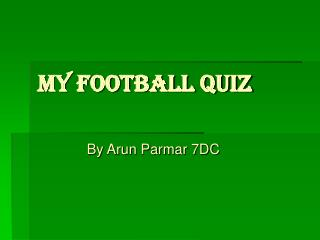 My Football Quiz