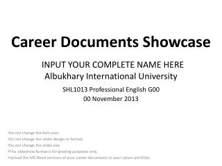 Career Documents Showcase