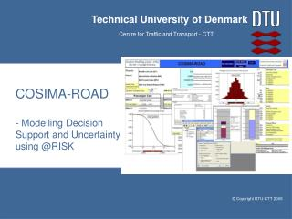 COSIMA-ROAD - Modelling Decision Support and Uncertainty using @RISK