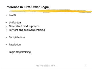 Inference in First-Order Logic