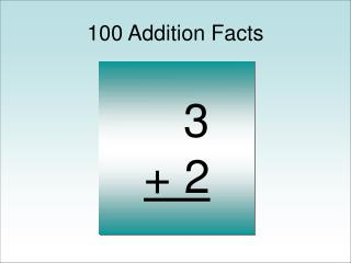 100 Addition Facts