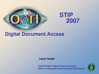 United States Department of Energy Office of Scientific and Technical Information