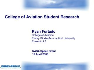 College of Aviation Student Research