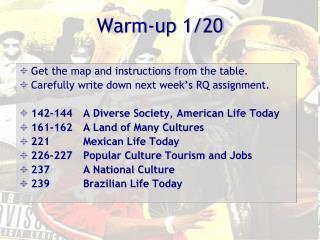 Warm-up 1/20