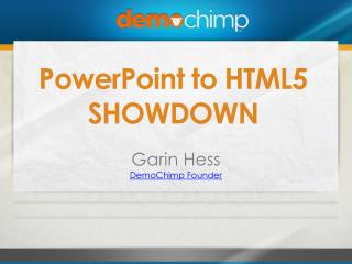 PowerPoint to HTML5 SHOWDOWN