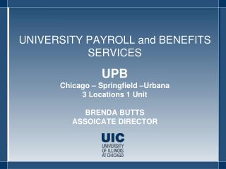 UNIVERSITY PAYROLL and BENEFITS SERVICES