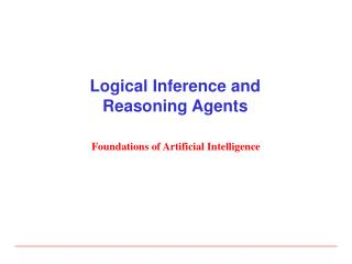 Logical Inference and Reasoning Agents