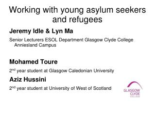 Working with young asylum seekers and refugees