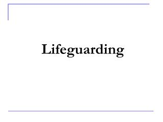 Lifeguarding