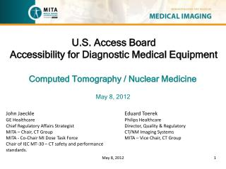 U.S. Access Board Accessibility for Diagnostic Medical Equipment