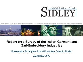Presentation for Apparel Export Promotion Council of India December 2010