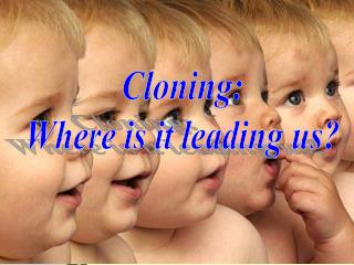 Cloning: Where is it leading us?