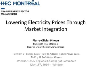 Lowering Electricity Prices Through Market Integration