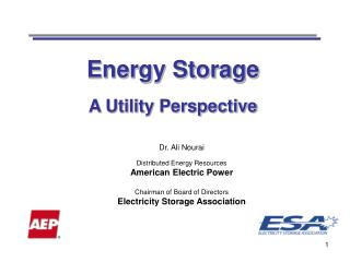 Energy Storage A Utility Perspective