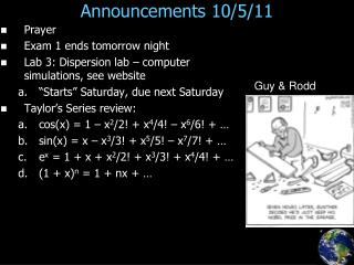 Announcements 10/5/11