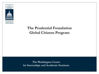 The Prudential Foundation Global Citizens Program
