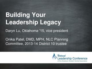 Building Your Leadership  Legacy