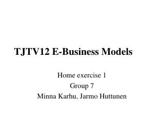 TJTV12 E-Business Models