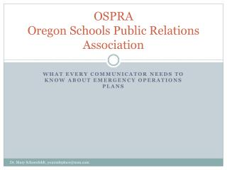 OSPRA Oregon Schools Public Relations Association