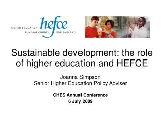 Sustainable development: the role of higher education and HEFCE