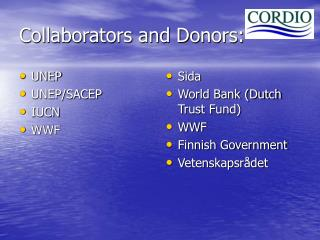 Collaborators and Donors: