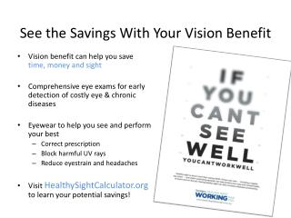 See the Savings With Your Vision Benefit