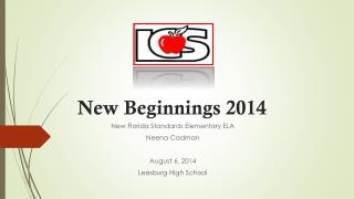 New Beginnings 2014