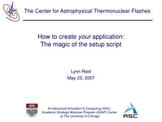 How to create  your  application: The magic of the setup script