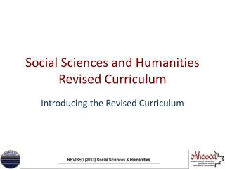 Social Sciences and Humanities Revised Curriculum