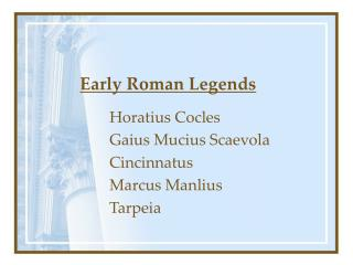 Early Roman Legends
