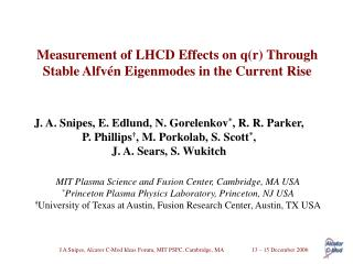 Measurement of LHCD Effects on q(r) Through Stable Alfvén Eigenmodes in the Current Rise