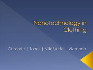 Nanotechnology in Clothing