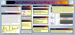 Techniques for Increasing Productivity in ICP Spectrometry