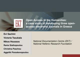 Open Access in the Humanities: