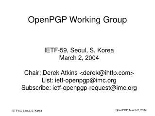 OpenPGP Working Group