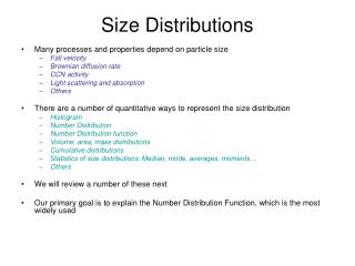 Size Distributions