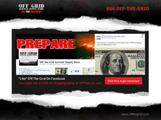 Shop at Off the Grid for Quality Survival Supplies