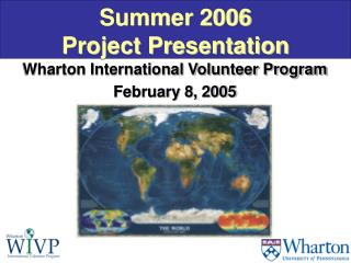Summer 2006  Project Presentation