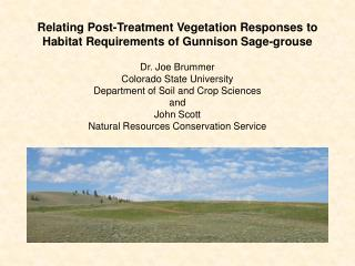 Relating Post-Treatment Vegetation Responses to Habitat Requirements of Gunnison Sage-grouse