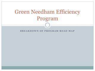 Green Needham Efficiency Program
