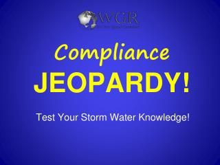 Compliance  JEOPARDY!