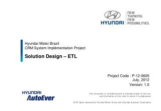 Hyundai Motor Brazil  CRM System Implémentation Project