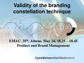 Validity of the branding constellation technique