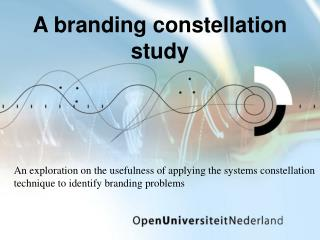 A branding constellation study
