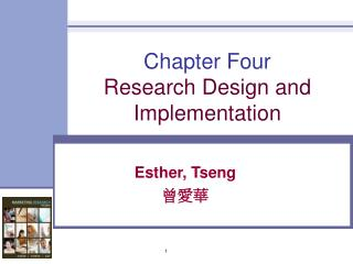 Chapter Four Research Design and Implementation