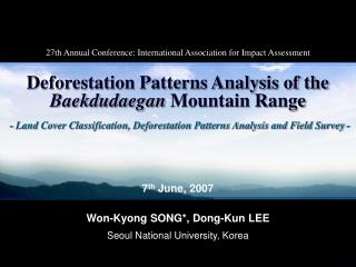 - Land Cover Classification, Deforestation Patterns Analysis and Field Survey -