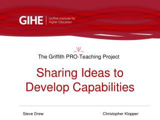 Sharing Ideas to Develop Capabilities