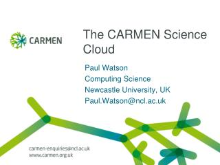 The CARMEN Science Cloud