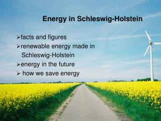 facts and figures renewable energy made in     Schleswig-Holstein energy in the future