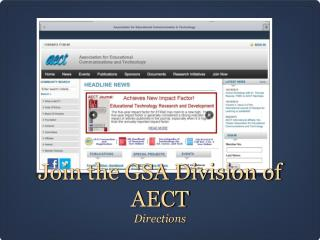 Join the GSA Division of AECT